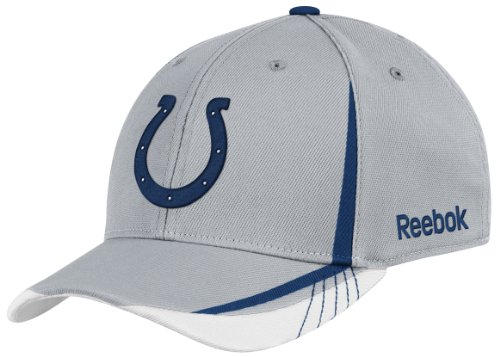 NFL Indianapolis Colts Sideline Flex-Fit Draft Hat, Grey , Small/Medium at Amazon.com