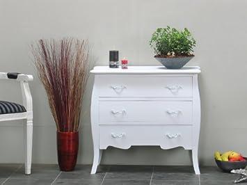 Kommode Bilbao Sideboard Anrichte Schubladenschrank Flur Dielen Schrank weiß
