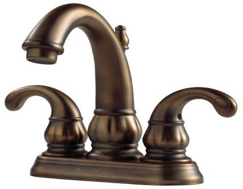 7 Faucet Finishes For Fabulous Bathrooms: Pfister F048DV00 Treviso 4-Inch Centerset Lavatory Faucet