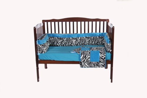 Baby Doll Crib Bedding Set with Bumper, Blue