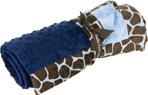 Baby JaR Funky Giraffe Blanket, Navy