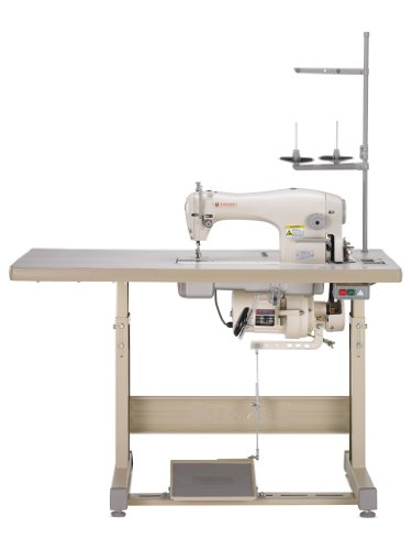 SINGER 191D-20 Complete Industrial Commercial-Grade Straight-Stitch Sewing Machine Ideal for Light to Medium Fabrics
