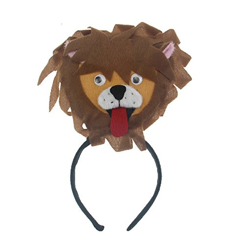 [Skue Lion Plush Ears Headband Costume Accessories] (Little Red Ant Costume)