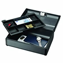 MMF Industries Steelmaster Premier Security Case with Combination Lock, 4.125 x 8.5 x 11.625 Inches, Charcoal Gray (2217016G2)