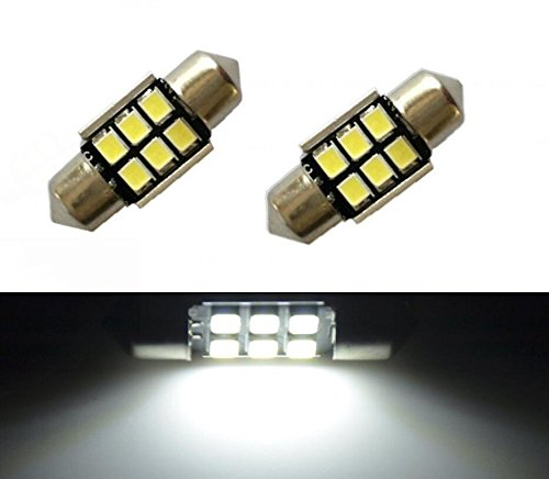 JDM ASTAR Super Bright AX-2835 Chipsets Error Free 1.25 inches DE3175 DE3021 DE3022 3175 LED Interior Map Dome Lights, Xenon White (Geo Metro Headlight Door compare prices)