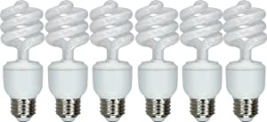 GE Lighting Energy Smart Spiral CFL 97659 13-Watt (60-Watt replacement), 825-Lumen T3 Spiral Light Bulb with Medium Base, 6-Pack