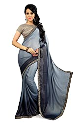 Glory Sarees Women's Designer georgette Saree grey color glory27