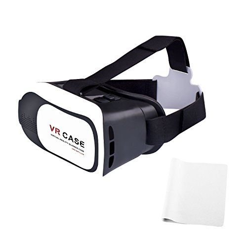 Bestfy(TM) VR Virtual Reality Headset 3D Glasses with High Definition Resin Lenses and Adjustable Focal and Pupil Distance for iPhone 6/6s/5/5c/5s/SE, Windows Phones, Samsung Galaxy S6(Black/White)