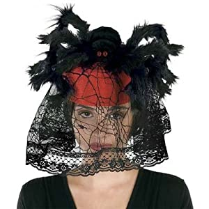 Spider Hat w/Veil Party Accessory (1 count) (1/Pkg) by The Beistle Company