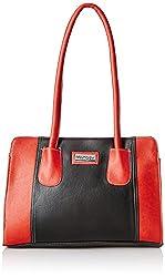 Fantosy Women's Handbag (Black and Red) (FNB-330)