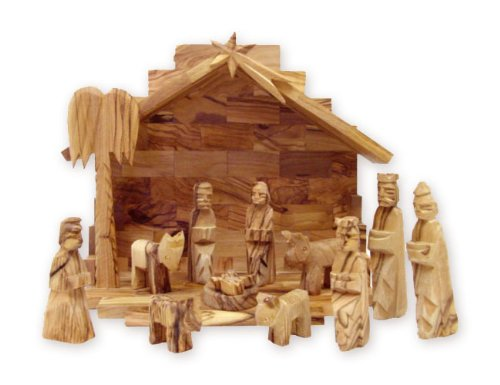 Olive-Wood-Miniature-Set-with-Stable-12-pieces
