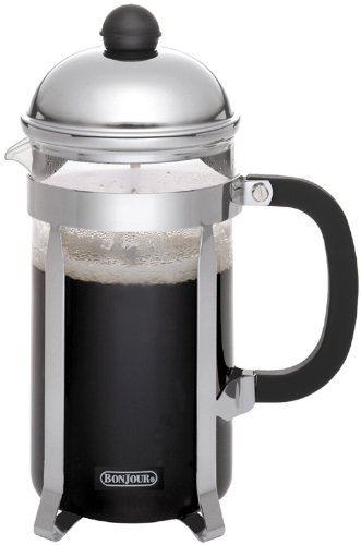 Bonjour French Press Monet, Polished Stainless Steel, 8-Cup front-578237