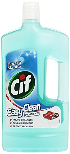 Cif - Detergente , Easy Clean Pavimenti, Con Lift-Action, Brezza Marina -  1000 Ml