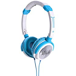 iDance Crazy 311 On-Ear Headphone with Mic (Blue/White)