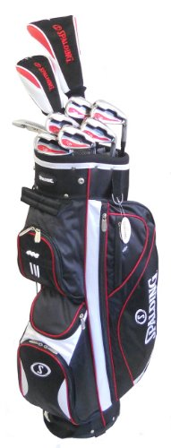 Spalding AF14 Mens Golf Club Set with Black Cart Bag (Right Hand-Graphite)