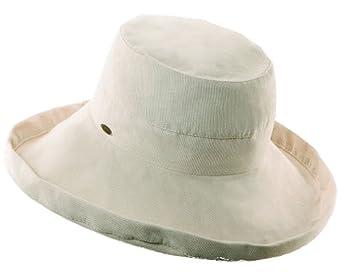 Scala Collezione Women's Cotton Big Brim Hat BEIGE O/S
