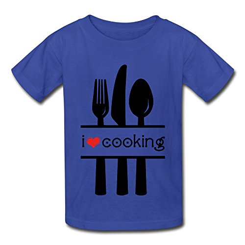 Love Cooking Teenager's Cotton Short Sleeve T Shirts
