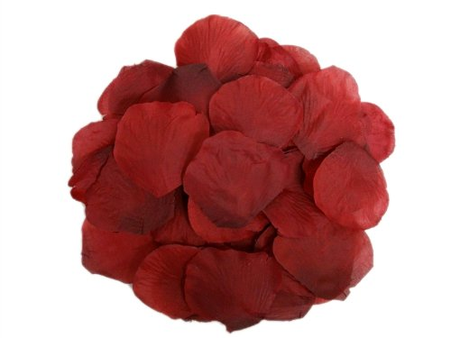 BalsaCircle 2000 Silk Rose Petals Wedding Decorations Bulk Supplies - Burgundy