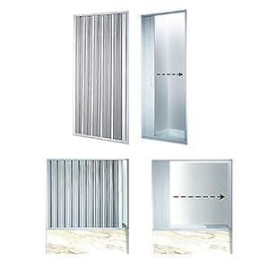 Duschwand VARIABLE BREITE 140-155 cm Duschabtrennung Faltwand Duschtür Badewannenaufsatz Dusche