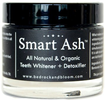 Smart Ash Organic All Natural Whitening Tooth Powder with Activated Charcoal & Bentonite Clay - Whitens, Desensitizes, Detoxifies - Toothpaste Alternative Safe for Sensitive Teeth (1) (Extract Tray compare prices)