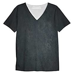 Snoogg Metal Textures Mens Casual V Neck All Over Printed T Shirts Tees