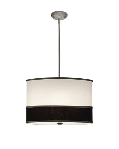 Lite Tops Multi Color Drum Pendant Light, Satin Nickel As You See