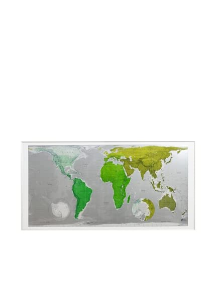 The Future Mapping Company Huge Plastic Future Map, 77&#8243; x 39.5&#8243;