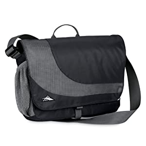 High Sierra Chip Messenger Bag,Black/Charcoal (Charcoal Lining)
