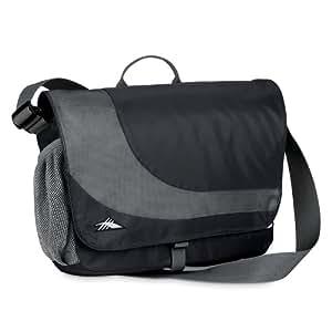 High Sierra Chip Messenger Bag,Black/Charcoal (Charcoal Lining)