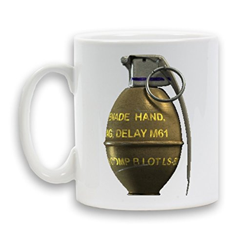 GRENADE MUG in ceramica, 11 oz, regalo