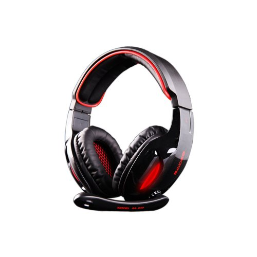 Sades Sa-902 Usb Cable Stereo 7.1 Surround Over-Ear Headphone Computer Gaming Headset Headphone Earset Earphone With Microphone Black / Red