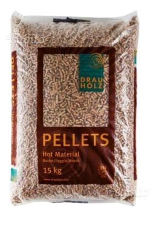 Pellet faggio austriaco 100% bancale 1170 kg spedizione corriere 78 sacchi