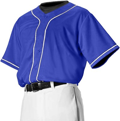 Alleson PROFJB Adult Faux Front Custom Baseball Jerseys RO WH ROYAL WHITE AL