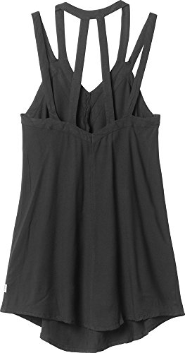 B00N40HHO0 RVCA Juniors Tunnel Vision Sleeveless Strappy Tank Dress, Black, X-Small