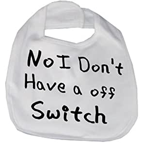 babies funny bib off switch