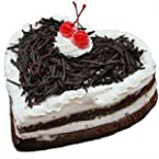 Heart Shape Blackforest Cake