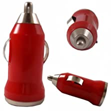 buy Bullet Usb In Car Charger Adapter Port For Motorola Fire Xt / Red Design