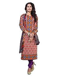 Varanga Red Exclusive Printed Dress Material with all over printed dupatta KFHARRA2HSN1011