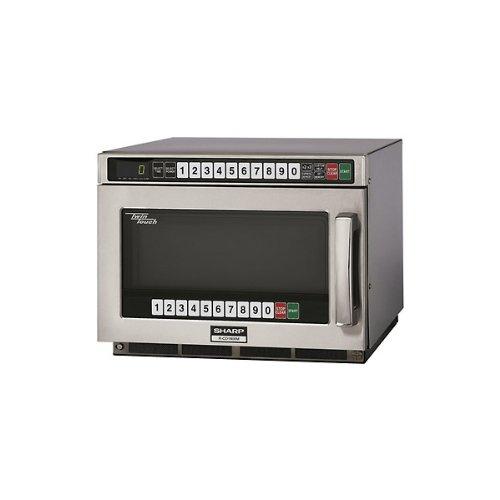 Sharp Heavy Duty Twin Touch Commercial Microwave - 1800 Watt front-617839