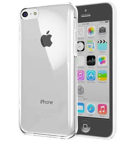 5C Case, 5C Cases- Iphone 5C Case [Crystal Clear] Hard Skin Case Shell For The New Iphone 5C - Hard Clear Shell - Skin Cover Case By Cable And Case® - Iphone 5C Cases