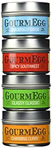 GourmEGG All-Purpose Spices - 4 Flavor Spice Gift Set - Premium Gourmet Seasonings for the Curious - Flavors: Classic, Curry, Greek, Spicy Southwest (x4 4oz Pack)