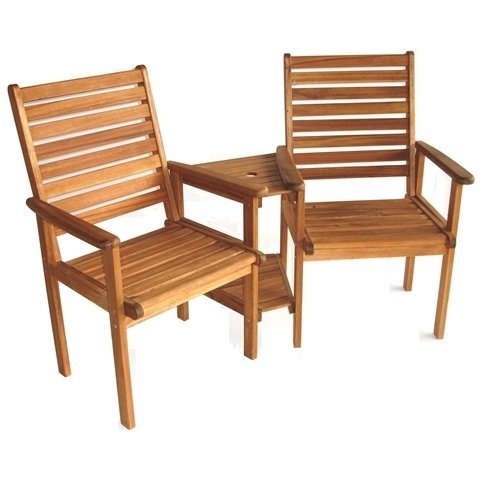 2 Seater Napoli Wooden Bench Garden Furniture Set