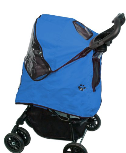 Pet Gear Weather Cover for Happy Trails Pet Stroller for cats and dogs, Cobalt Blue