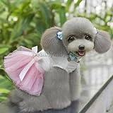 Alcoa Prime Cute Puppy Pet Dog Dress Lace Skirt Princess Dress Fancy Clothes Pink M