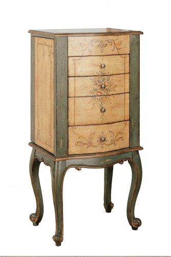 Jewelry Armoire - Antique Sage Jewelry Armoire - Powell Furniture - 72