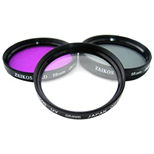 HDFX Limited Edition High Definition 37mm Protective Multi Coated Pure Glass 3 Piece Filter Kit (UV, CPL, FL)