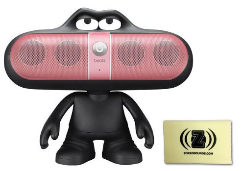Beats By Dr. Dre Pill Limited Edition Portable Speaker (Pink) Bundle With Beats Pill Dude (Black) And Custom Designed Zorro Sounds Cleaning Cloth