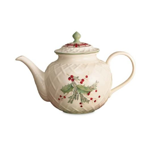 Buy Lenox Holiday Gatherings Carved Teapot