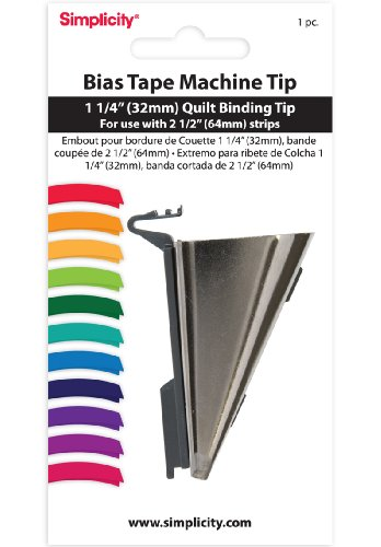 Read About Simplicity 1-1/4 Inch Quilt Binding Tip (For Use With 2-1/2 Inch Strips)