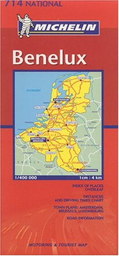 Michelin Benelux (Belgium, the Netherlands, Luxembourg) Map (Michelin Maps)